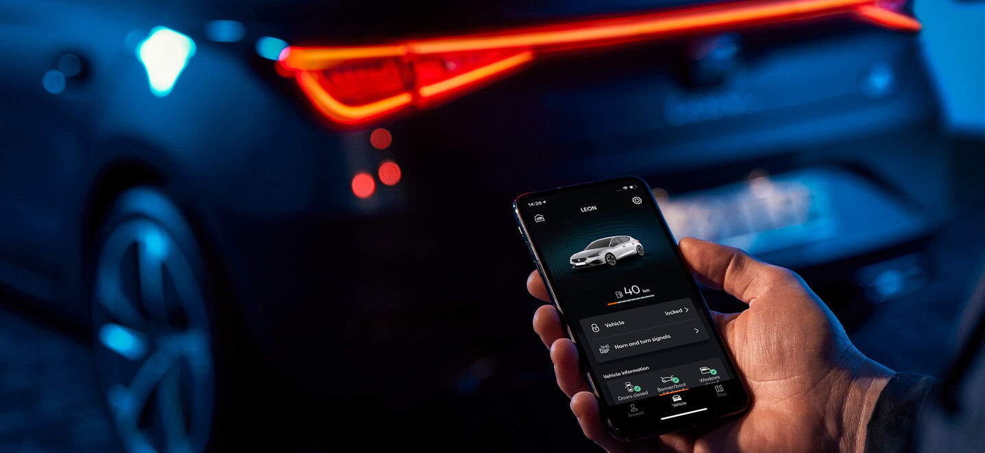 SEAT Connect App am Smartphone
